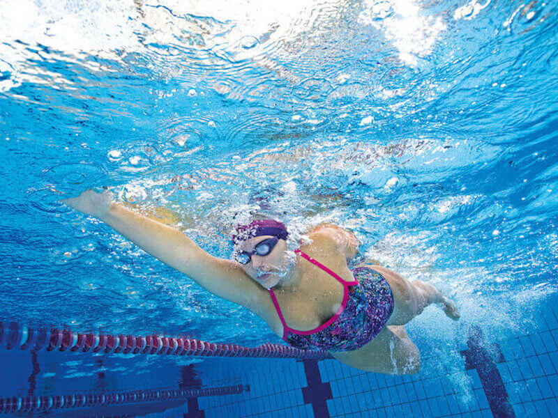 Woman doing a freestyle stroke