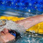 Backstroke drills: swimmer doing the backstroke