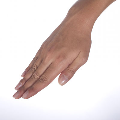 Freestyle hand entry: Step 3, closed fingers