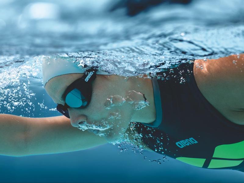 Underwater shot of a swimmer